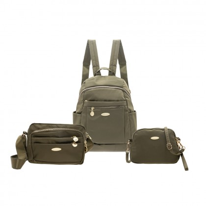 British Polo Nylon 3 in 1 Backpack set
