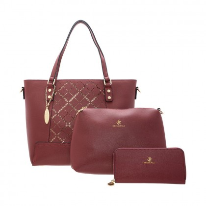 British Polo Golden Handbag SET