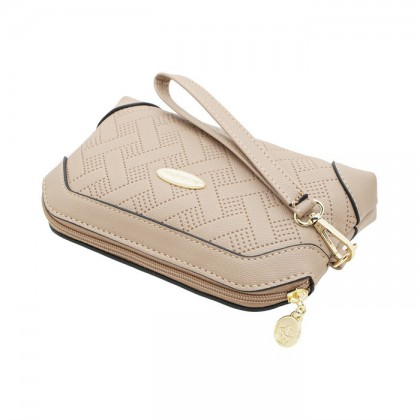 British Polo Grid Texture Clutch Bag