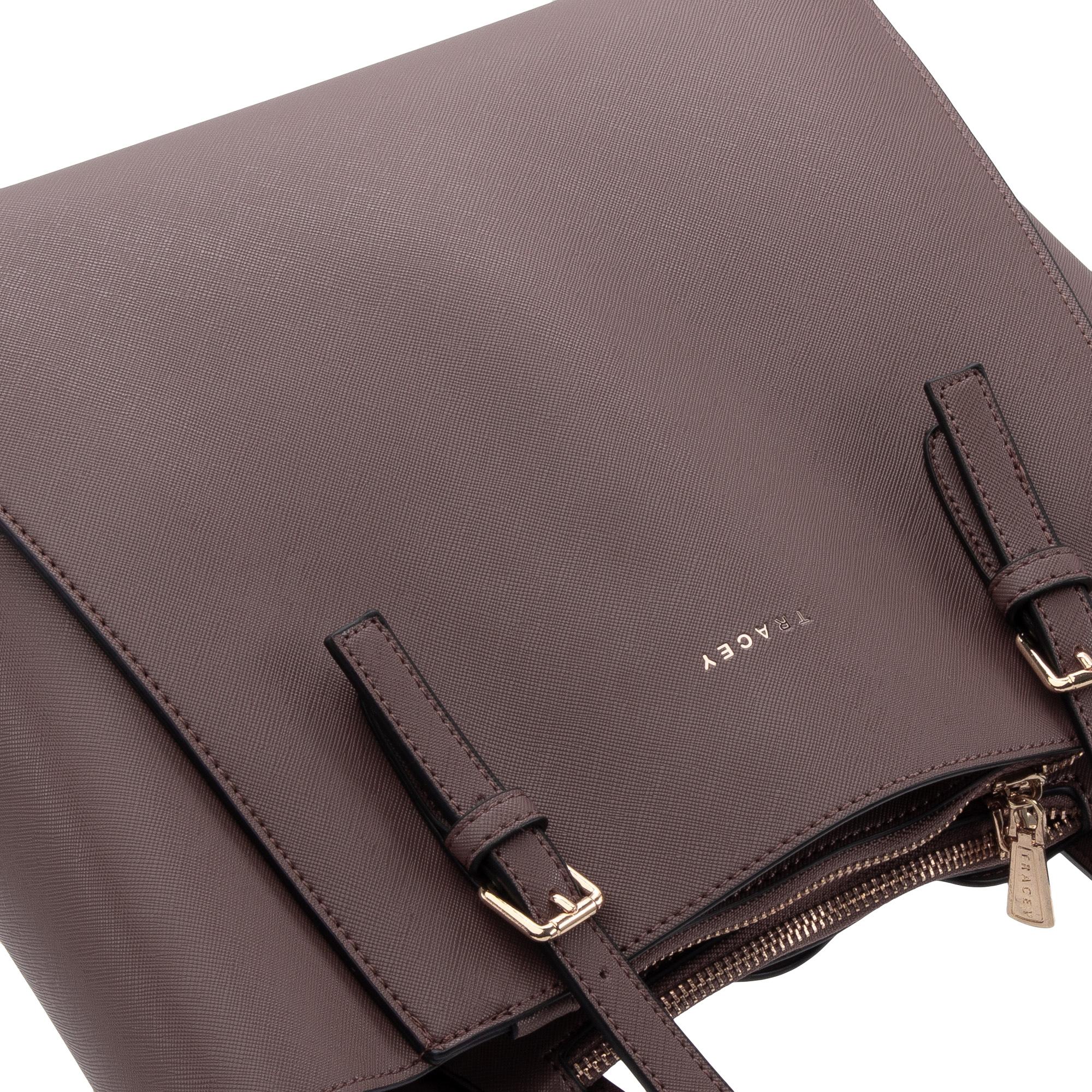 Tracey Pu Leather Shoulder Bag