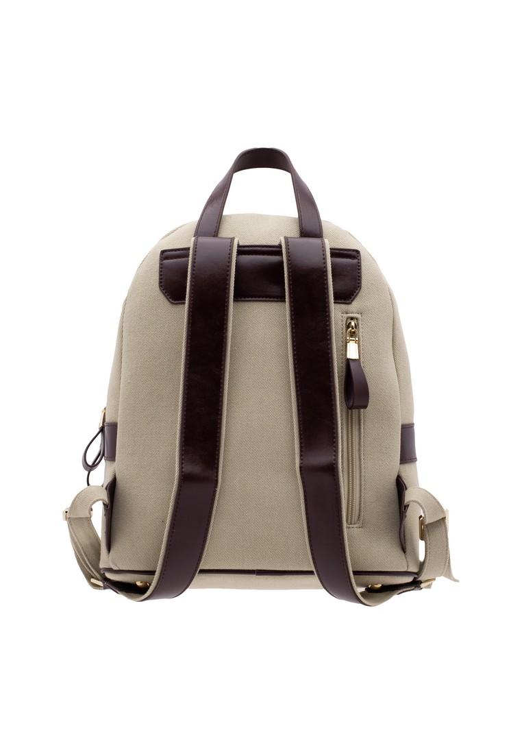 LP Leather& Denim Linen Backpack