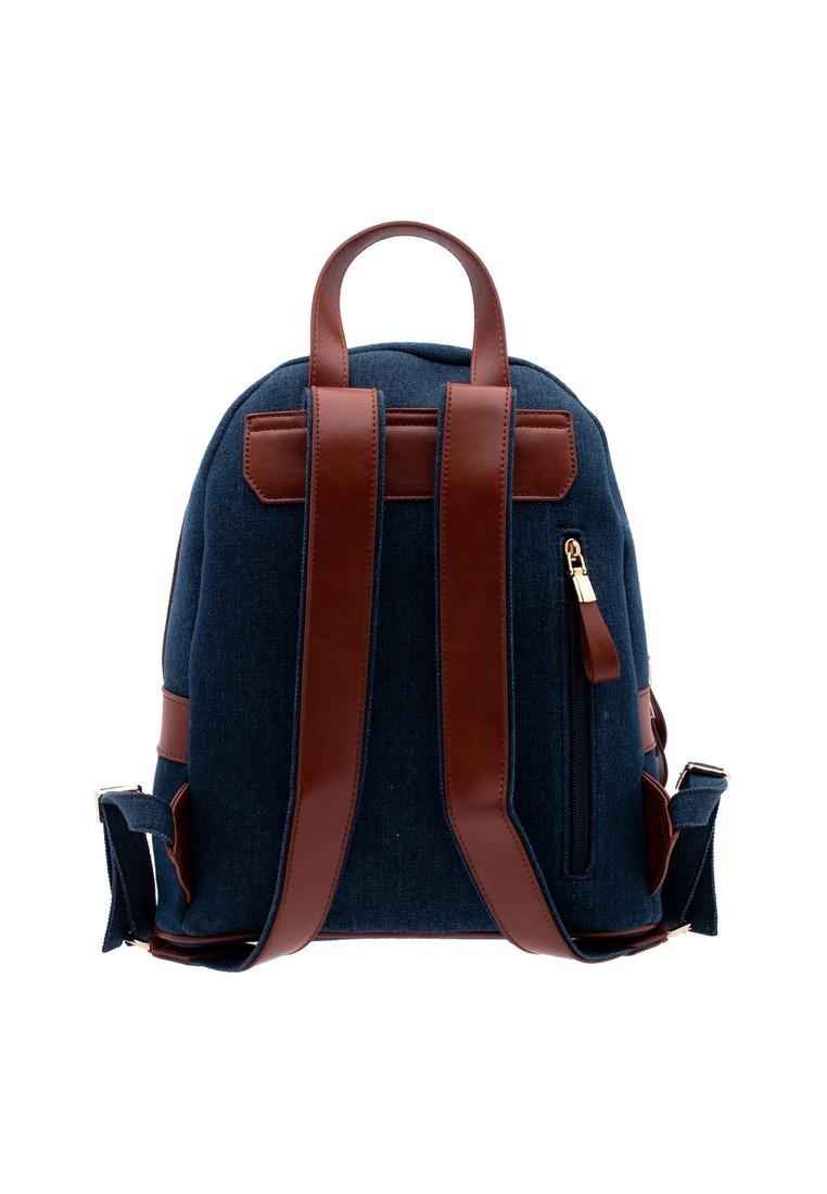 LP Leather & Denim Linen Backpack (SET)