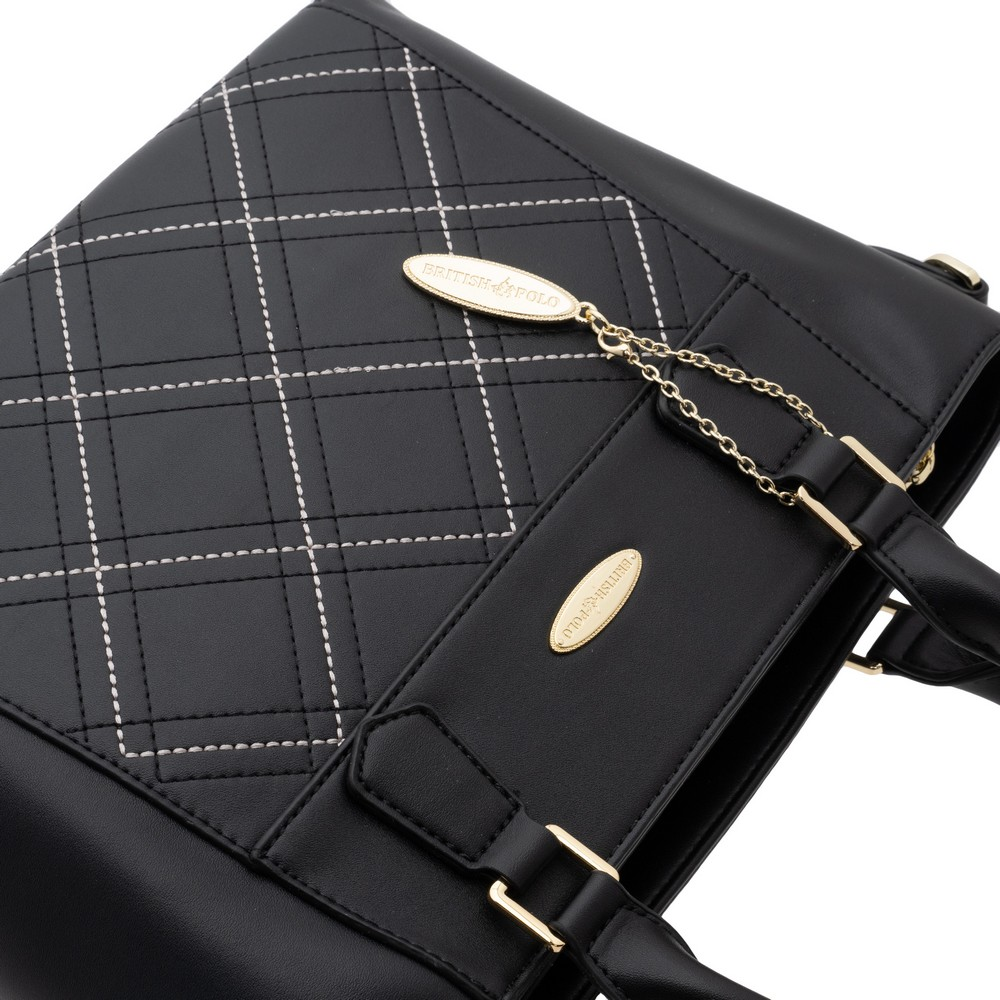 British Polo Check Handle Bag