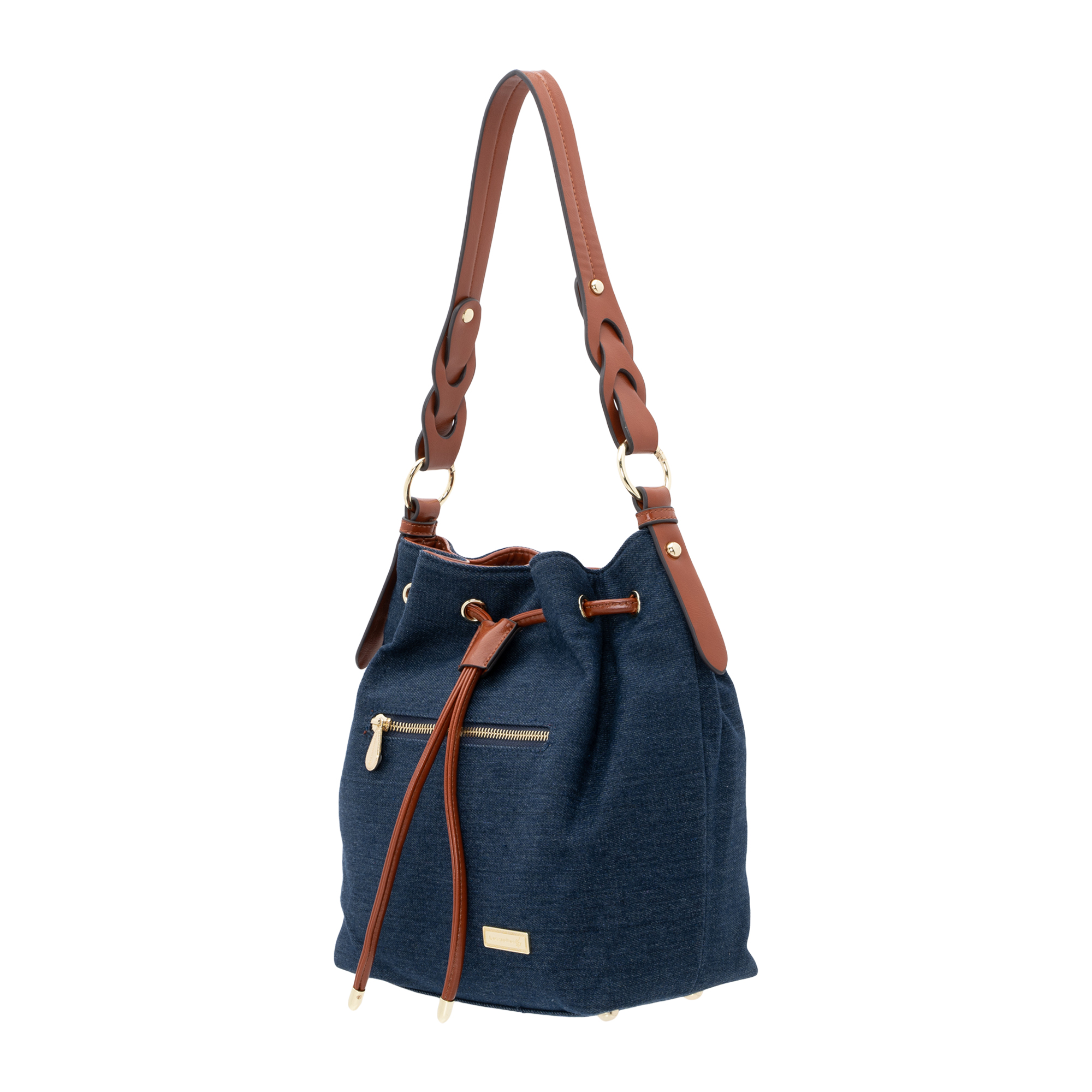 Lancaster Polo Patent Drawstring Bucket Bag