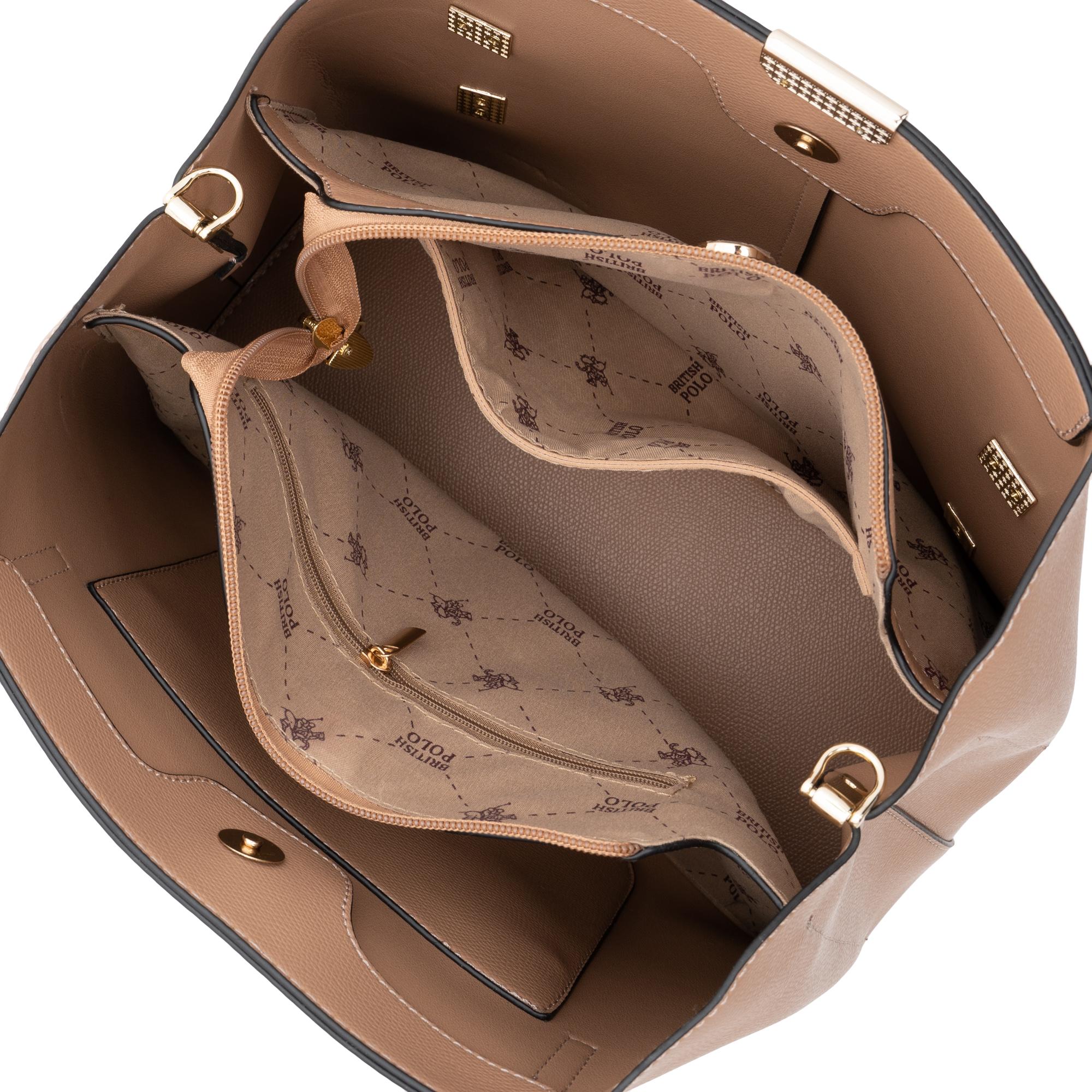 British Polo Landscape Handle Bag