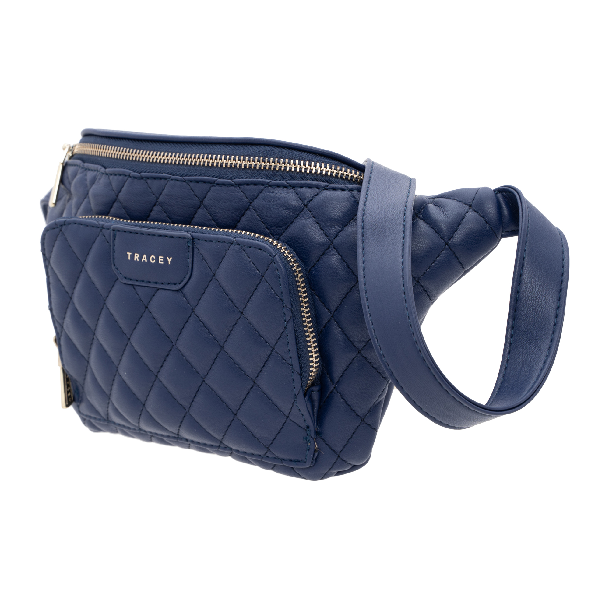 Tracey Quilted-Effect Chest Bag