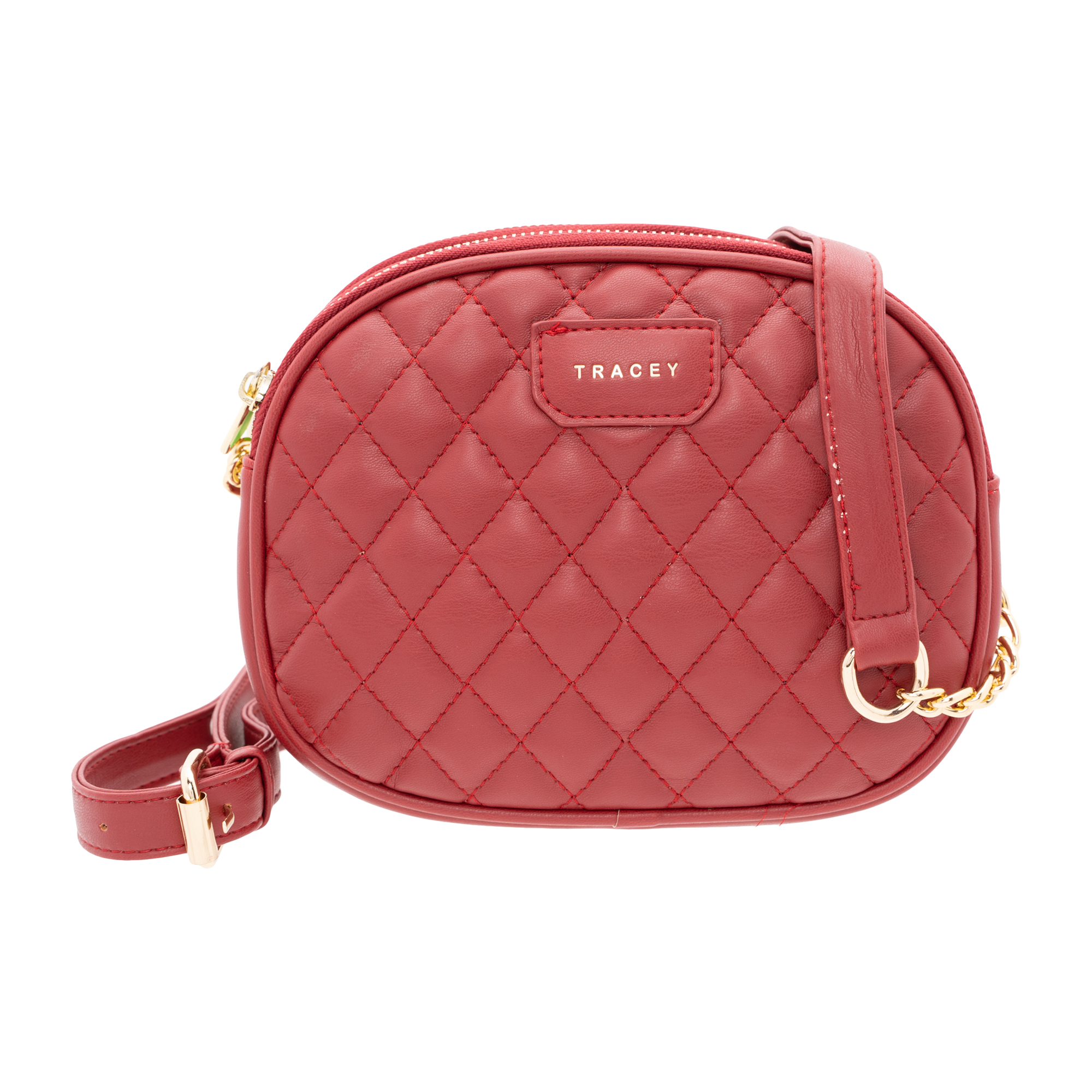 Tracey Quilted-Effect Sling Bag