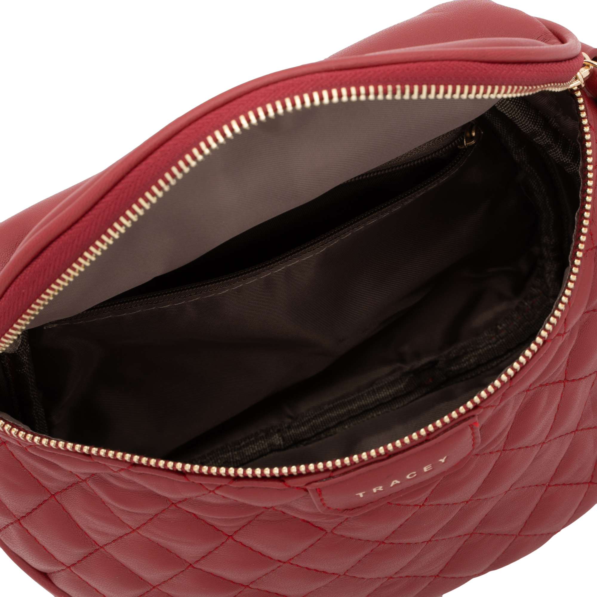 Tracey Quilted-Effect Crossbody Bag