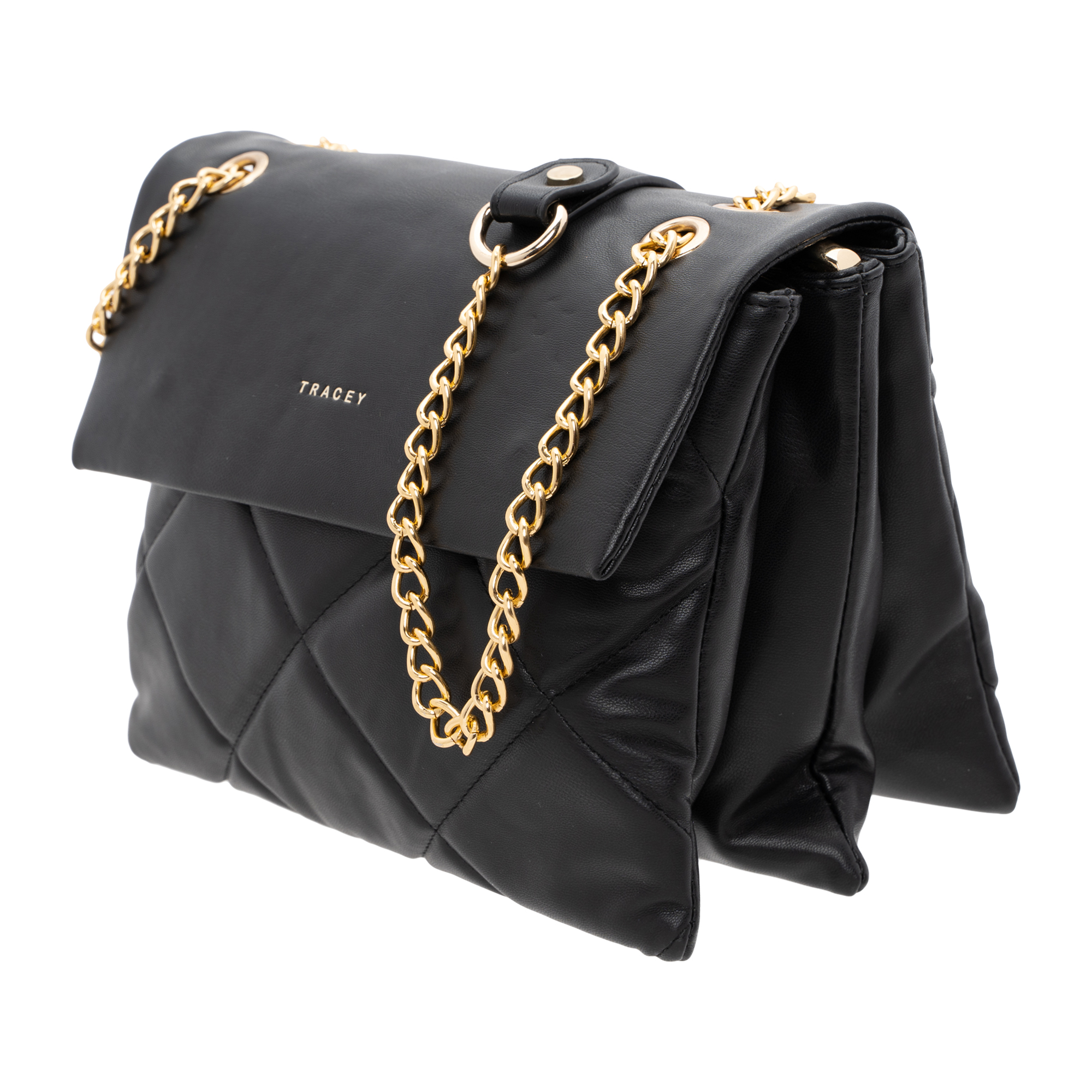Tracey Quilted-Effect Flip Bag