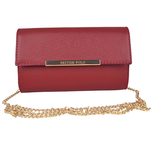 British Polo Women Clutch Sling Bag (Red)