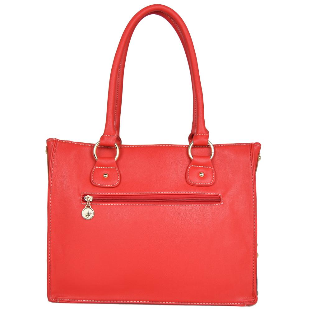 British Polo Women Hot Sale Classic Eliza Handbag (Red - Big)