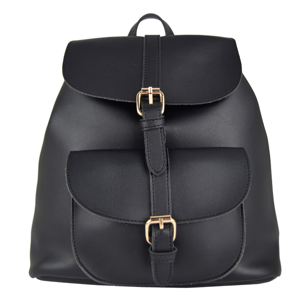 Tracey Star Simple Backpack Black