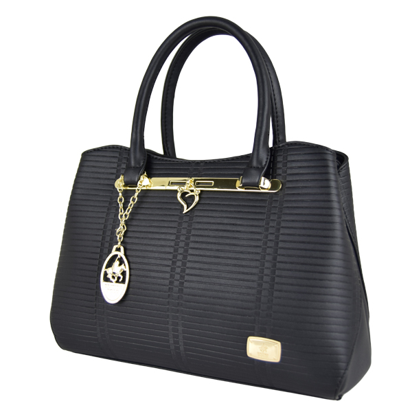 British Polo Woman Premium Elegant and Tote & Sling Bag (Black)