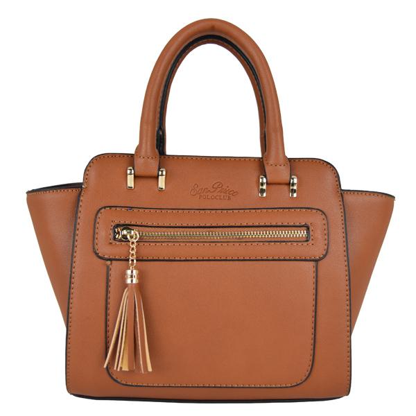 San Prisco Poloclub Women 2 Ways use Tote & Sling Bag(Khaki)